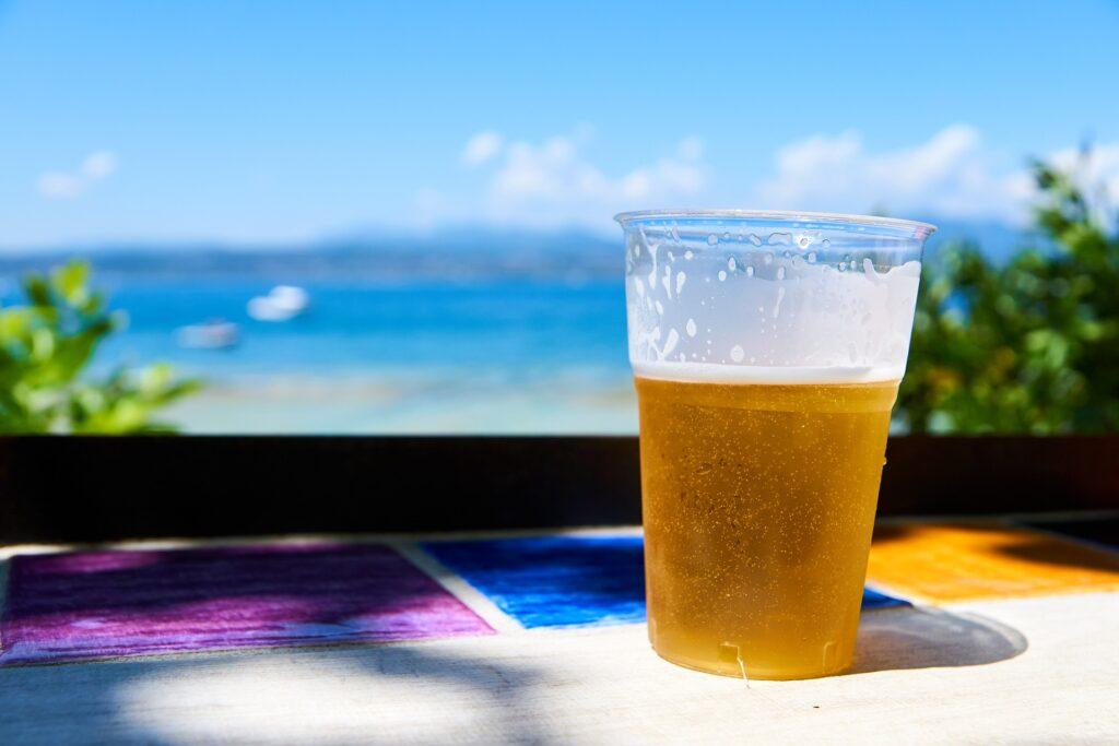 Beer for virtual beer pong