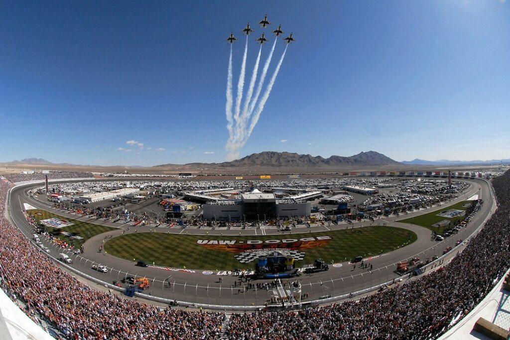 Nascar car racing stadium